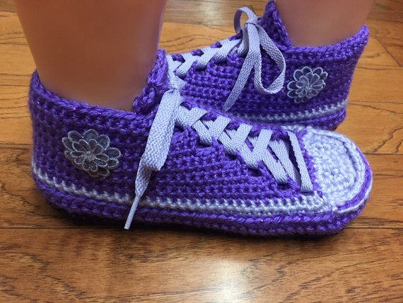 Listing tennis slippers shoes sneaker 7 388 tennis Womens flower shoes purple slippers Crocheted slippers slippers 9 crochet butterfly Fwdpapq