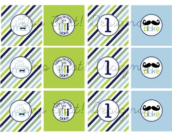 Little Man Toppers/Party Circles