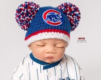 Chicago Cubs baby, girl, newborn, preemie, hat