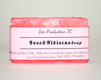 Rose and Hibiscus Soap