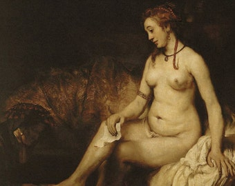 Bathsheba by Rembrandt - a Frameable Vintage 1953 Art Print