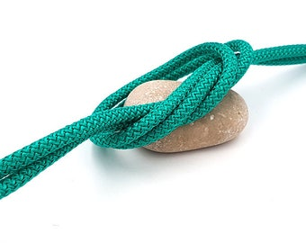 Diameter 5 mm braided cord, mint green, by the yard