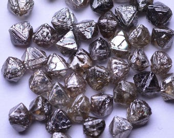 1 Diamond - 3.00MM - Natural Rough Raw Diamond Brown Included Octahedron