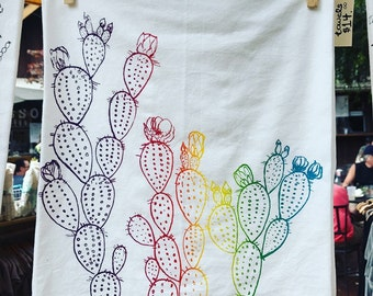 Prickly Pear Ombre Kitchen Towel
