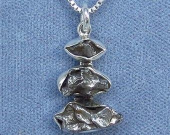 Meteorite Campo del Cielo Necklace - Sterling Silver - M180808 - Free Shipping