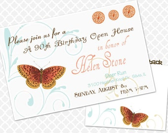 Sweet 90th Birthday Invitation Birthday Party Invite