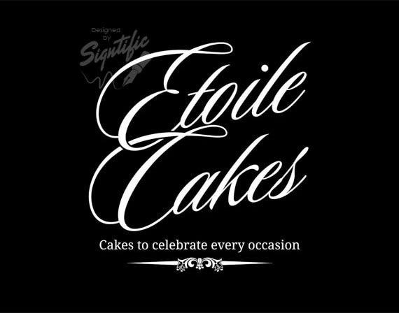 Custom business logos signtific designs cake business logo free business card design and psd custom white and black colourmoves Choice Image