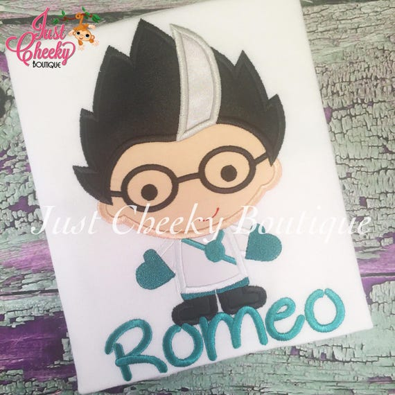 Romeo PJ Masks Inspired Embroidered Shirt - Pj Masks Birthday Shirt - Bedtime Heroes Birthday Shirt - Disney Jr - PJ Masks Party