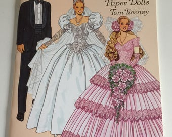 REDUCED Wedding Fashion Paper Dolls Book by Tom Tierney