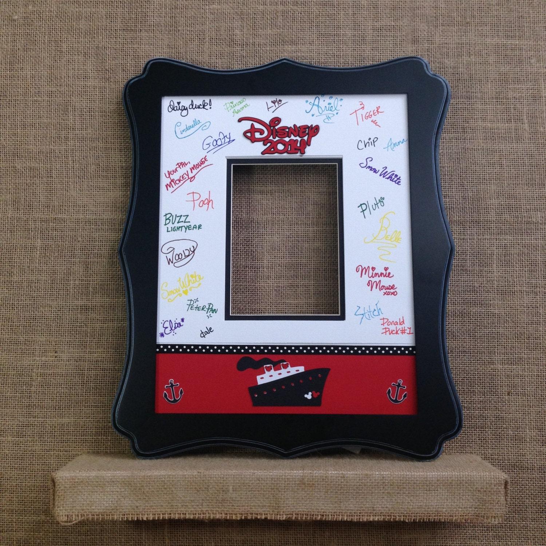 Disney cruise autograph book idea photo mat signature matte zoom jeuxipadfo Choice Image