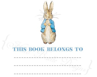 Peter Rabbit Baby Boy Printable Book Plates - Instant Digital Download