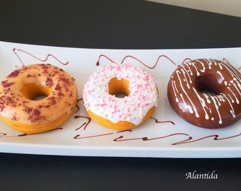 Handmade Fake Donuts Faux Donuts Kitchen Decor Display Bakery Display Artificial Donuts Fake Food