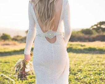 Shining Bright lace wedding dress with sleeves