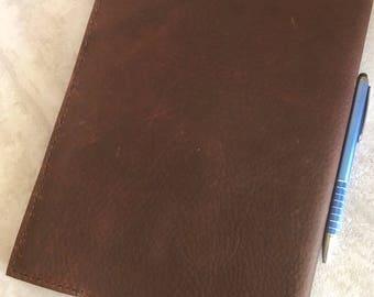 Handmade Leather Journal, Brown Kodiak Leather Journal