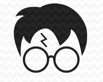 Harry Potter SVG, harry potter head svg Cut Files, harry potter head Svg and PNG Image, SVG for Silhouette Cricut