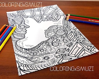 Coloring Pages Of Fancy Alphabet Letters : Love coloring page etsy