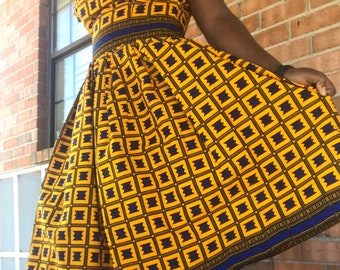 African fabric prints women's dress