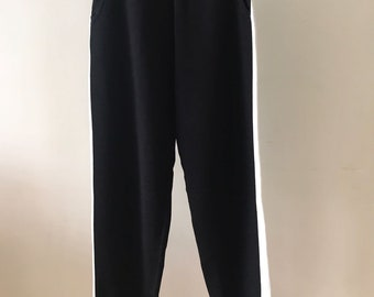 Black Strap Knit jogger pants