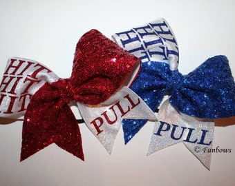 Hit HIT HIT PULL  ! Cheerleading Allstar Hairbow by Funbows