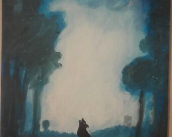 Howling Wolf painting