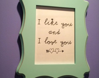 I Like You and I Love You Wall Hanging