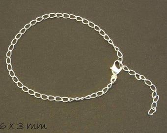 3 bracelet blanks, necklace, silver