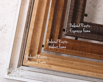 "Beveled Rustic Wood Frames - Beveled Wood frames for your map - Small/Large Frames - Rustic Wood styles - Sizes up to 30"" x 40"""