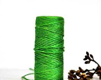 Chunky Bright Green Twine {10.0m}   Jute Twine   Chunky Twine   Bright Green Jute Twine   Rustic Green Twine   Festive Twine   Spring Twine