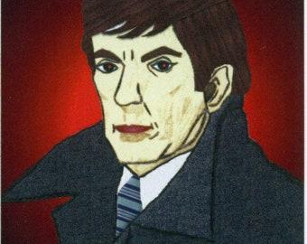 ACEO SFA Barnabas 2 vampire portrait digital art print gothic goth Halloween limited edition nitelvr