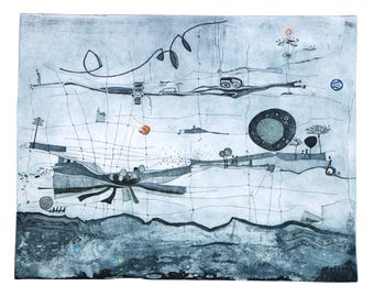 """Heike Roesel """"Homelands"""", Fine art etching in edition of 20 (in variation)"""