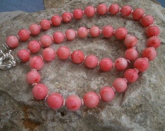 Bamboo Coral Necklace #647