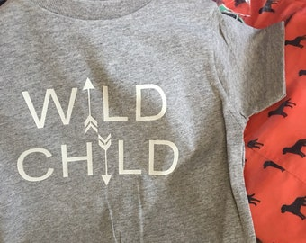 wild child t shirt, toddler and youth t shirt