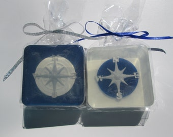 Compass Soap Favor for nautical party, baby shower, ship soap, boat party, sailboats