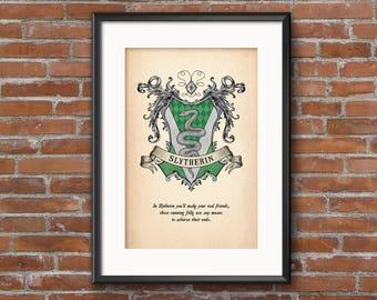 Slytherin House Crest Print