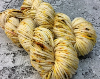 Special Batch Chunky Merino - hand-dyed yarn popcorn yellow gold olive