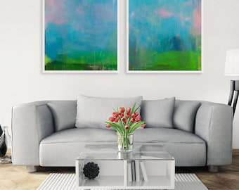 Large wall art, blue, abstract art, art abstract, large wall art, acrylic, painting, original, landscape, wall art canvas