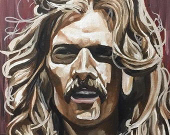 Glenn Frey Original Arcylic Painting, 100% Hand Painted, The Eagles, Classic Rock Memoribilia