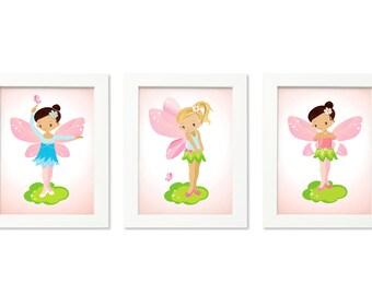 Baby girl nursery art, Fairy room decor, Nursery art girl, Fairy nursery, Fairy wall art