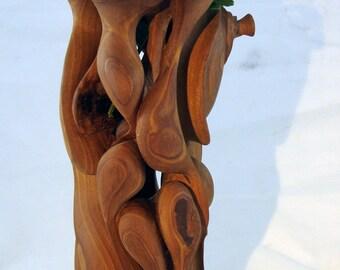 wood vase apple tree