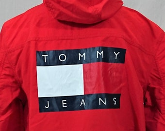 1b7ba15e Big Tommy Logo on the back Windbreaker packable Tommy Hilfiger - Tommy Jeans  very rare item