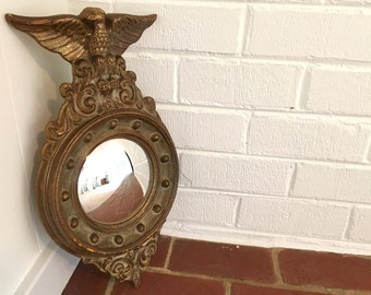 Vintage Convex Federal Eagle Mirror Bullseye Mid Century Mantique Rustic  Cohenu0027s Picture Store Washington,