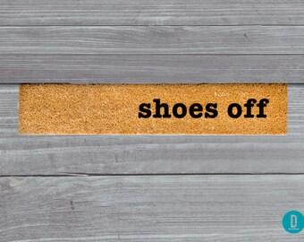 Shoes Off Skinny Doormat, Shoes Off Door Mat, Shoes Off Welcome Mat, Shoes Off Doormat, Slim Doormat Slim Mat, Shoes Off Mat, Thin Doormat
