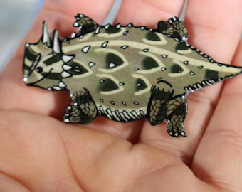 Texas Horny Toad magnet for car locker or fridge: Great gift for lizard lovers ,horny toad collectors, pet toad loss memorial