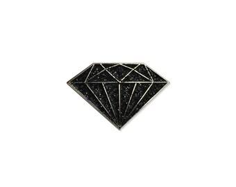 Black Diamond Enamel Lapel Pin