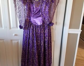 Purple and Gold Gown