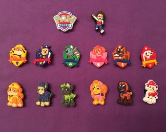 Paw Patrol Shoe Charms for Crocs, Silicone Bracelet Charms, Party Favors, Jibbitz