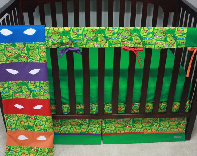 Teenage Mutant Ninja Turtle Baby Bedding with rail guards-MTO