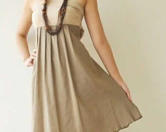 Wind of change Part II.... Cream-Brown Cotton Dress