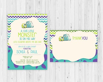 Monsters Inc Monsters Inc Baby Shower Invitations Baby