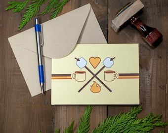 Anniversary Greeting Cards Adventure Wedding Love Cards Camping Cards Outdoor Friendship Cards Retro Card Just Because Valentines Day